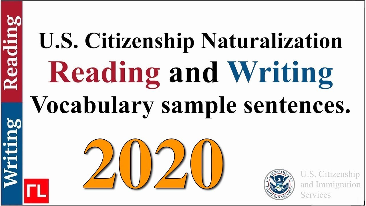 photograph relating to Printable United States Citizenship Test referred to as Reading through and Composing Vocabulary for the Naturalization Check (2019)