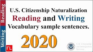 Reading and Writing Vocabulary for the Naturalization Test (2019)