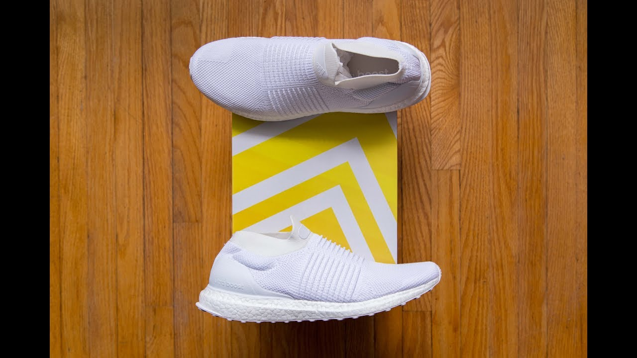 innovative design 605b1 1f97a City Sock Ultra Boost?! || Adidas Ultra Boost Laceless Triple White Review  and On Feet