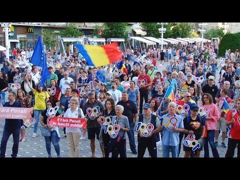Protest împotriva dictaturii în Piaţa Victoriei din Timișoara