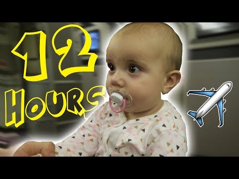 12 HOUR FLIGHT WITH A BABY!! HARLOWS FIRST HOLIDAY!!