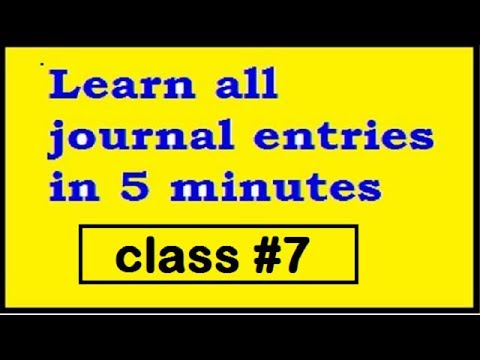 Learn all journal entries in 5 minutes