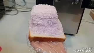 스노우반 눈꽃빙수기로 만든 딸기식빵실타래빙수