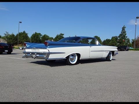 1959 Oldsmobile Olds Super 88 in White & Blue & Engine Sound on My Car Story with Lou Costabile