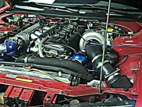 ECU Tuner Guy 650whp ka24de turbo dyno pull with head lift