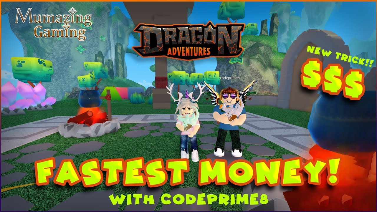 Dragon Adventures Roblox New Fastest Money Trick With Codeprime8