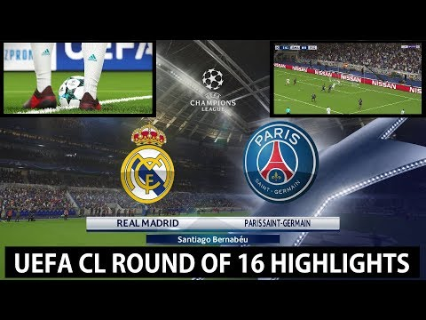 UEFA CL R16: Real Madrid vs Paris Saint-Germain PES 2018 Highlights | Superstar | PC | KnightMD