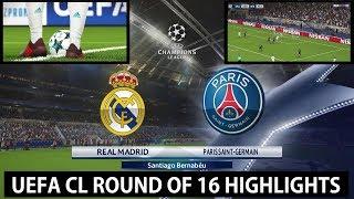 UEFA CL R16: Real Madrid vs Paris Saint-Germain PES 2018 Highlights | Superstar | PC | KnightMD