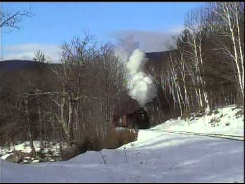 Conway Scenic Railroad steam freight photo runby in NH January 2009