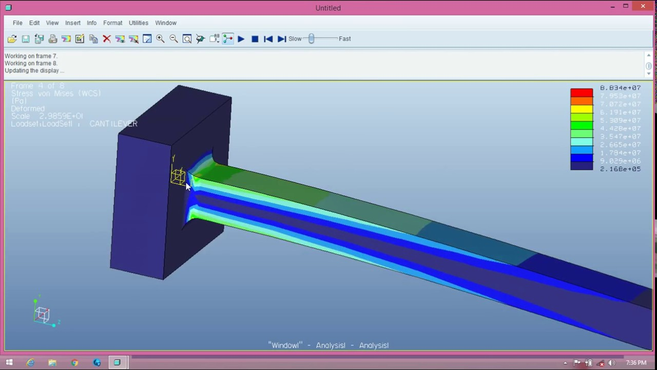 Design Of Cantilever beam and vibration analysis