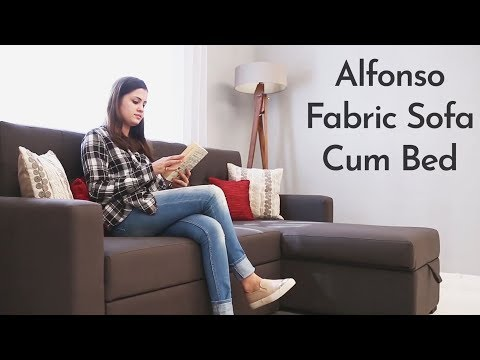 Alfonso Fabric Sofa cum Bed by Woodenstreet.com