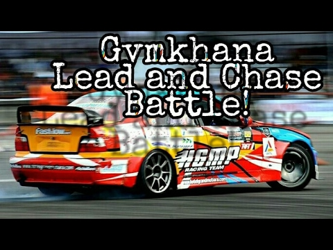 Gymkhana Drift Tandem - Lead and Chase car at IIMS Motor show Jakarta