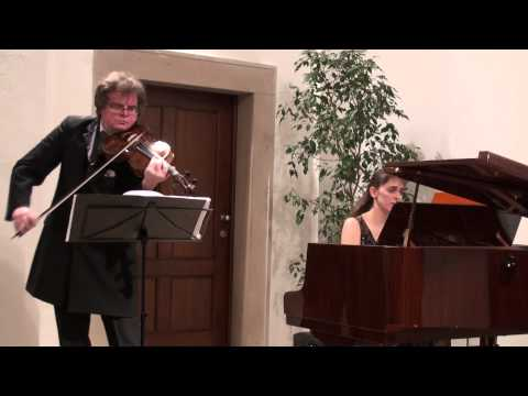 Brahms viola sonata op. 120 no. 2 and Happy Birthday song - The Spring duo