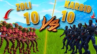 WHICH SKIN HAS A BETTER CHANCE TO WIN IN FORTNITE? * 10 ZOEY vs 10 KARBID *