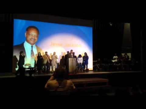 Rev Jesse Jackson Cheers Golden State Warriors