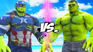 THE HULK VS HULK - CAPTAIN AMERICA