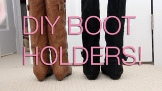 Diy Cheap Boot Holders/stands ! :)