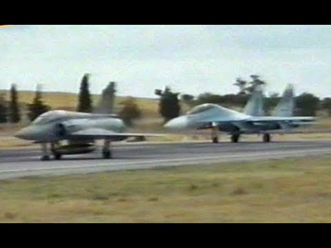 Sukhoi Su-27/30  vs Mirage 2000  114 CW Tanagra  - Greece 1997 (Better Quality)