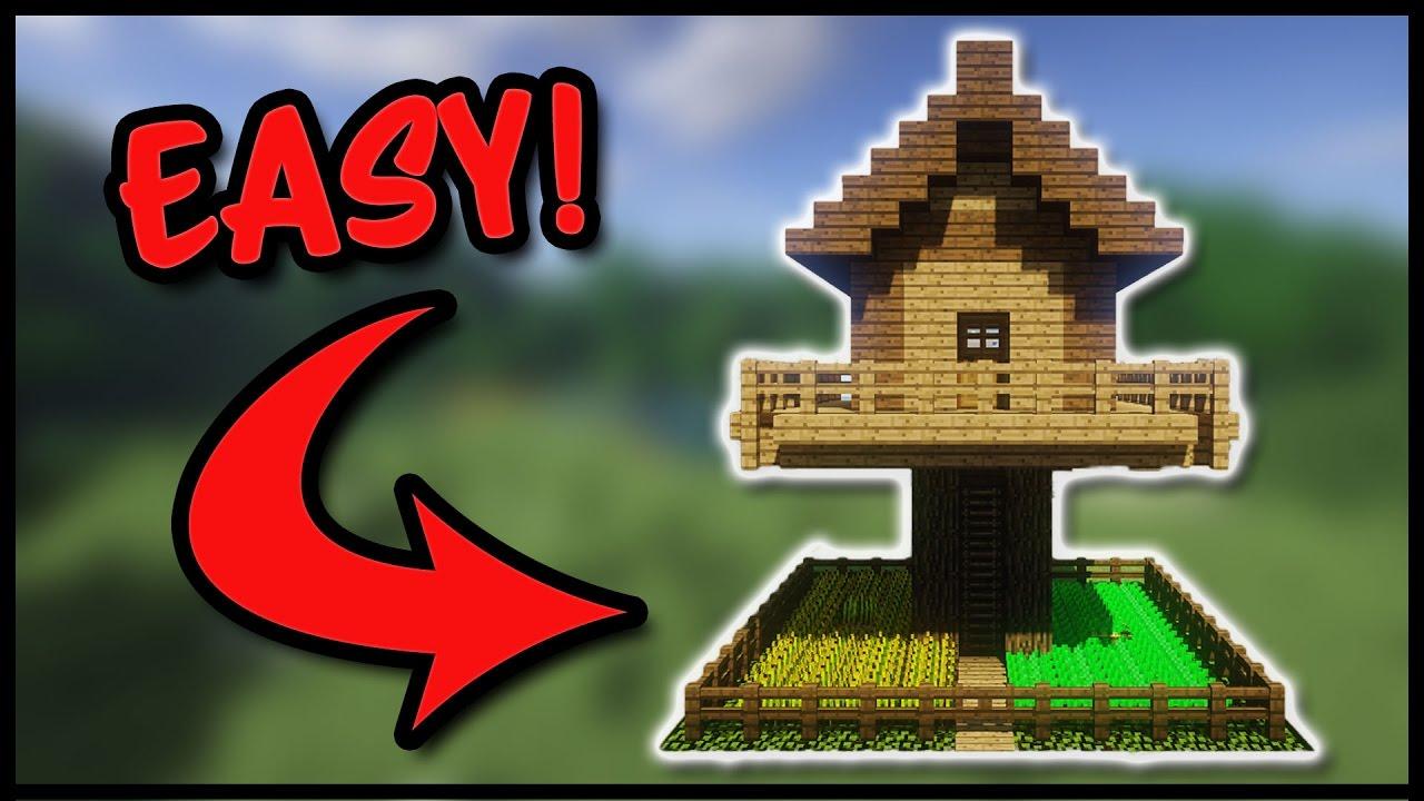 Wunderbar 🌲Tutorial: Minecraft Baumhaus Bauen   So Baut Ihr Ein Cooles Baumhaus In  Minecraft (Deutsch)