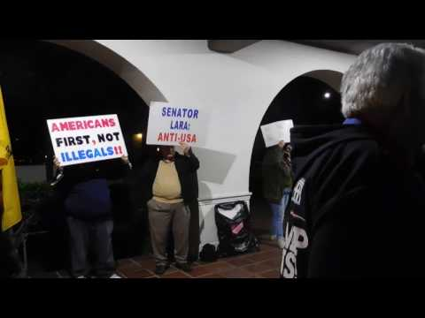 Pro Illegal CA Senator Ricardo Lara PROTESTED @ His Reelection Bash