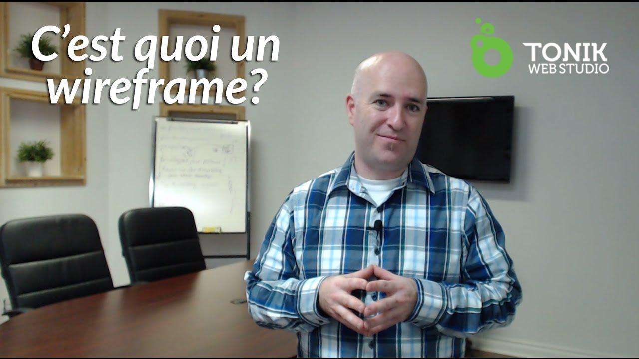 C Est Quoi Un Wireframe Design Graphique Web Youtube