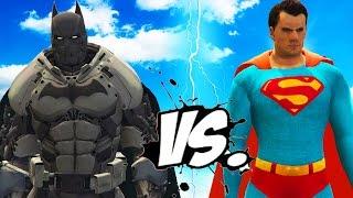 SUPERMAN VS BATMAN (XE Batsuit) - EPIC SUPERHEROES BATTLE