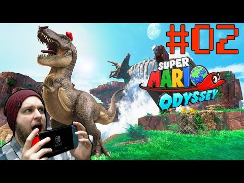 Taking Control Of a Dinosaur And Crushing Things! - Super Mario Odyssey - Gameplay [#02]