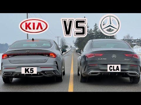 2021 Kia K5 GT Line vs Mercedes CLA 250 DRAG RACE!!!