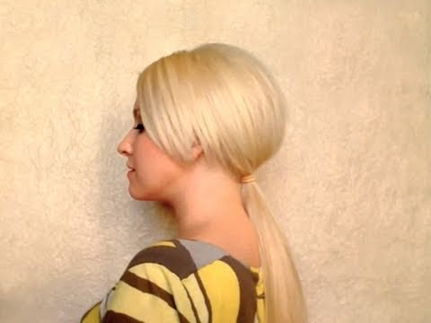 adele ponytail hairstyle with bump medium long hair. Black Bedroom Furniture Sets. Home Design Ideas