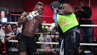 JERMELL CHARLO CRACKING RIBS ON THE BODY SHIELD! PUMMELS 260LBS MAN DURING WORKOUT!