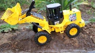 รถตักดิน รถแม็คโคร ขุดคลองน้ำ รถดั้ม รถบรรทุก Wheel Loader Excavator Vehicles for kids