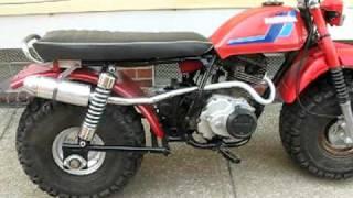 Honda atc200 3 to 2 wheeler Prototype, Fat Cat Big wheel dirt bike pit missile kit