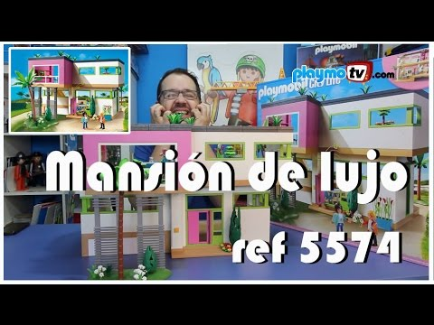 Playmobil 5574 mansi n moderna de lujo youtube for Playmobil casa de lujo