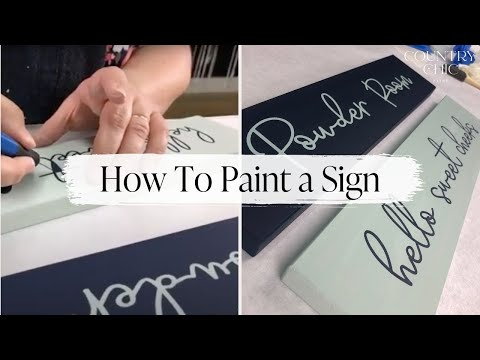 How To Paint A Wooden Sign | DIY Wood Sign Painting Demo with Country Chic Paint