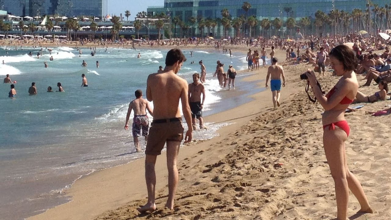 Barceloneta Beach Barcelona Spain Catalonia
