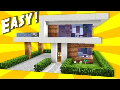 Minecraft Simple Easy Modern House Mansion Tutorial How To Build 10 Interior Youtube