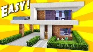 Minecraft: Simple & Easy Modern House / Mansion Tutorial / How to Build #10 + Interior