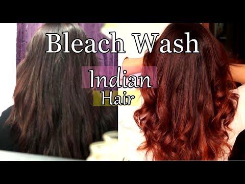 Bleach Wash/Bath Hair At Home   Lighten Dark Hair