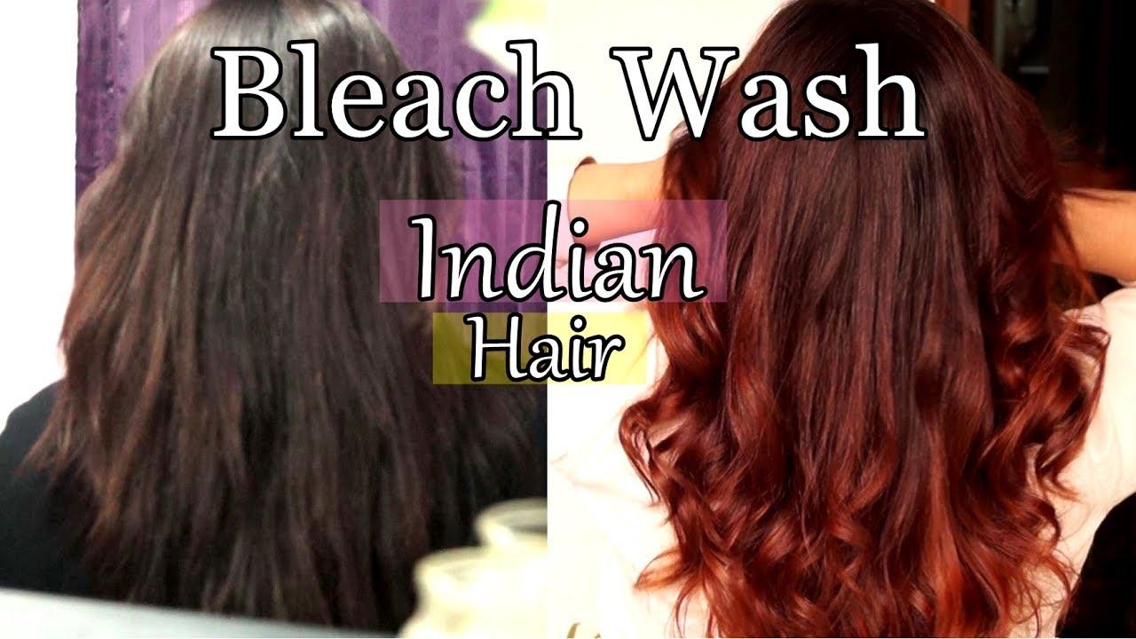 Bleach Wash Bath Hair At Home Lighten Dark Hair Youtube