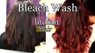 Bleach Wash/Bath Hair at home | Lighten dark hair