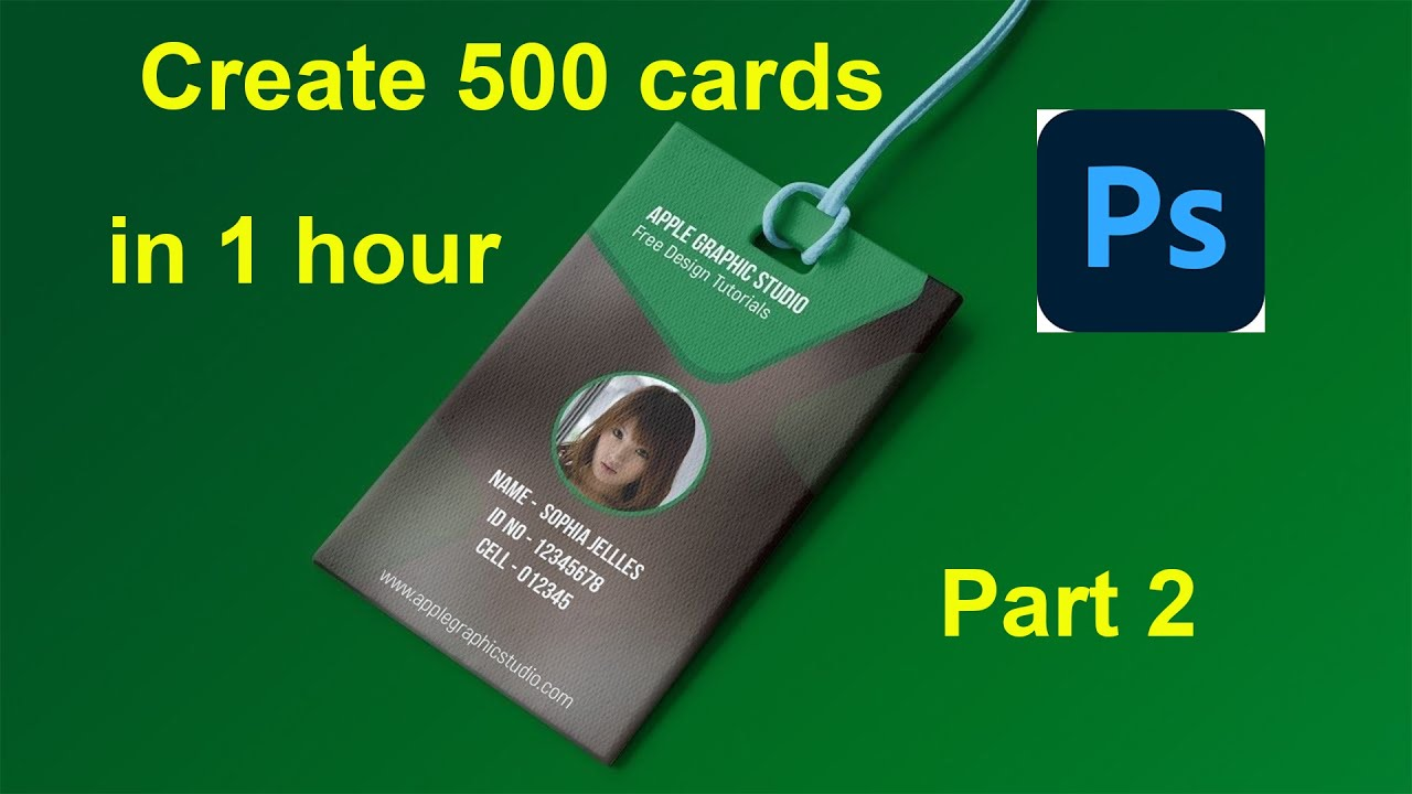 how to create multiple id card in Photoshop Part 2