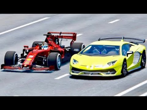 Lamborghini SVJ vs Ferrari F1 2019 - Top Speed Battle