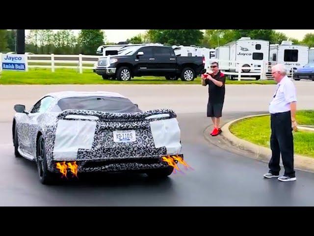 best c8 corvette engine revving
