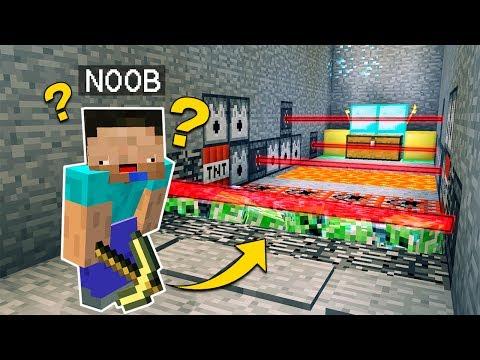 NOOB VS CASA DE TRAMPAS 😂 MINECRAFT TROLL + ROLEPLAY | EL NOOB #6