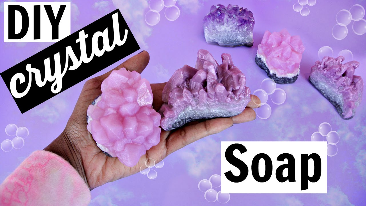 Diy Gemstone Soap How To Make Your Own Crystals Youtube