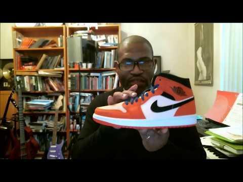 eb77d453209 Air Jordan 1 Mid SE Alternate Shattered Backboard Team Orange/Black-CrimsonTint  852542-800 - YouTube