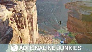 Incredible Slackline Wedding Above Canyon