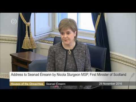 Address to Seanad Éireann by Nicola Sturgeon MSP, First Minister of Scotland