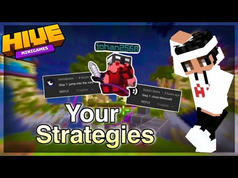Using YOUR Strategies To Win On MOBILE in Hive Skywars… (Minecraft Bedrock)