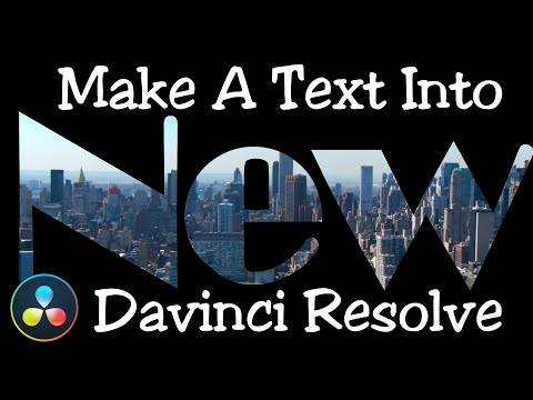 Davinci Resolve 16 Make a Text Intro